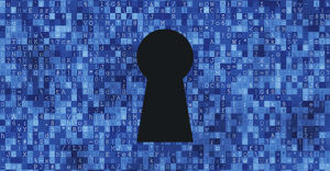 Cyber security concept: keyhole